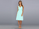 Donna Morgan - Jessie Silk Chiffon Dress (Spearmint) - Apparel