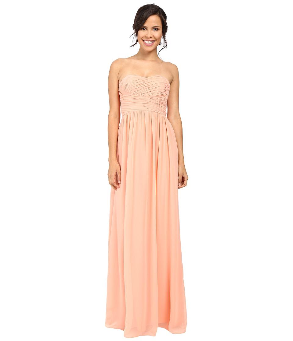 Donna Morgan - Strapless Chiffon Gown - Stephanie (Peach Fuzz) Women's Dress