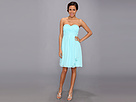 Donna Morgan - Lindsey Strapless Chiffon Dress (Gulfstream) - Apparel