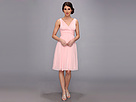 Donna Morgan Jessie Silk Chiffon Dress (Blush)