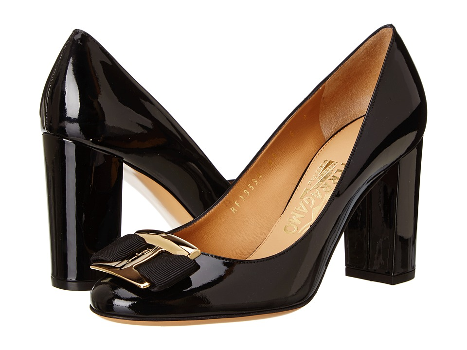 Salvatore Ferragamo - Ninna 85 (Nero Glass Flower) High Heels