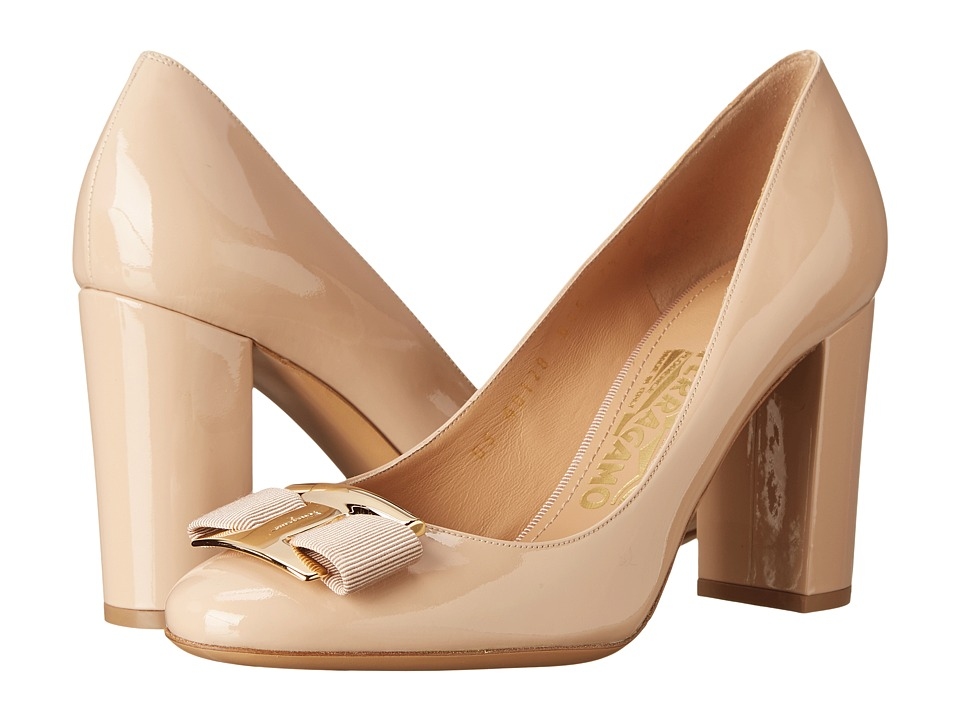 Salvatore Ferragamo - Ninna 85 (New Bisque Glass Flower) High Heels