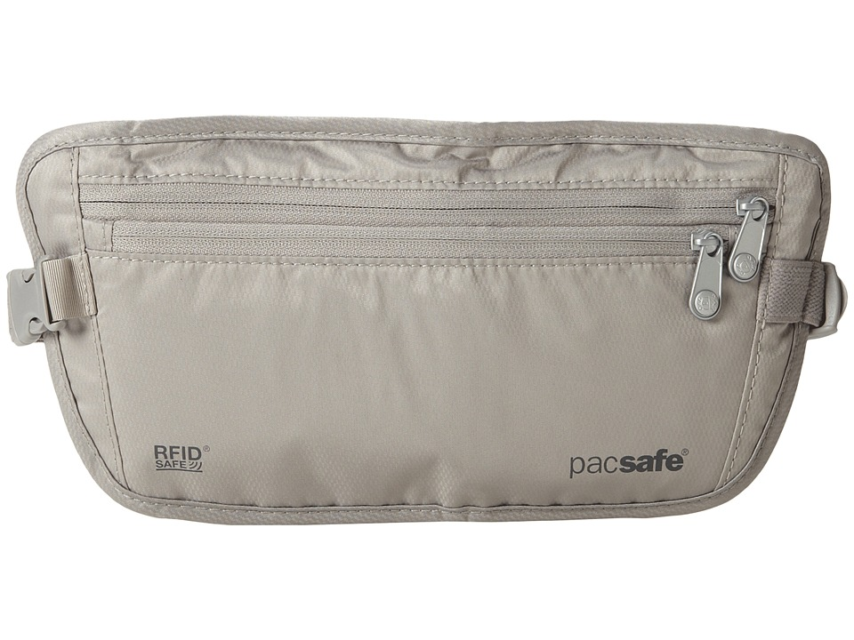 Pacsafe - RFID Safe 100 RFID-Blocking Travel Waist Wallet (Neutral Grey) Travel Pouch