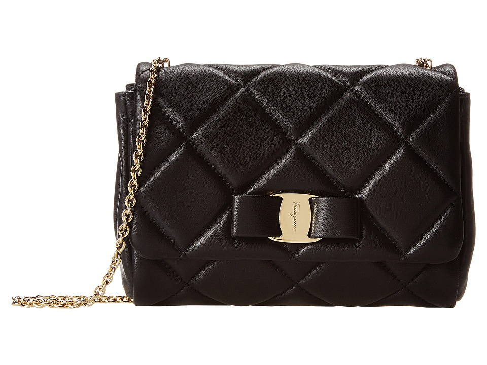 Salvatore Ferragamo - 22C150 (Nero) Cross Body Handbags
