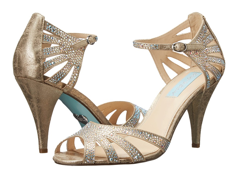 Blue by Betsey Johnson Sweet (Champagne Fabric) High Heels