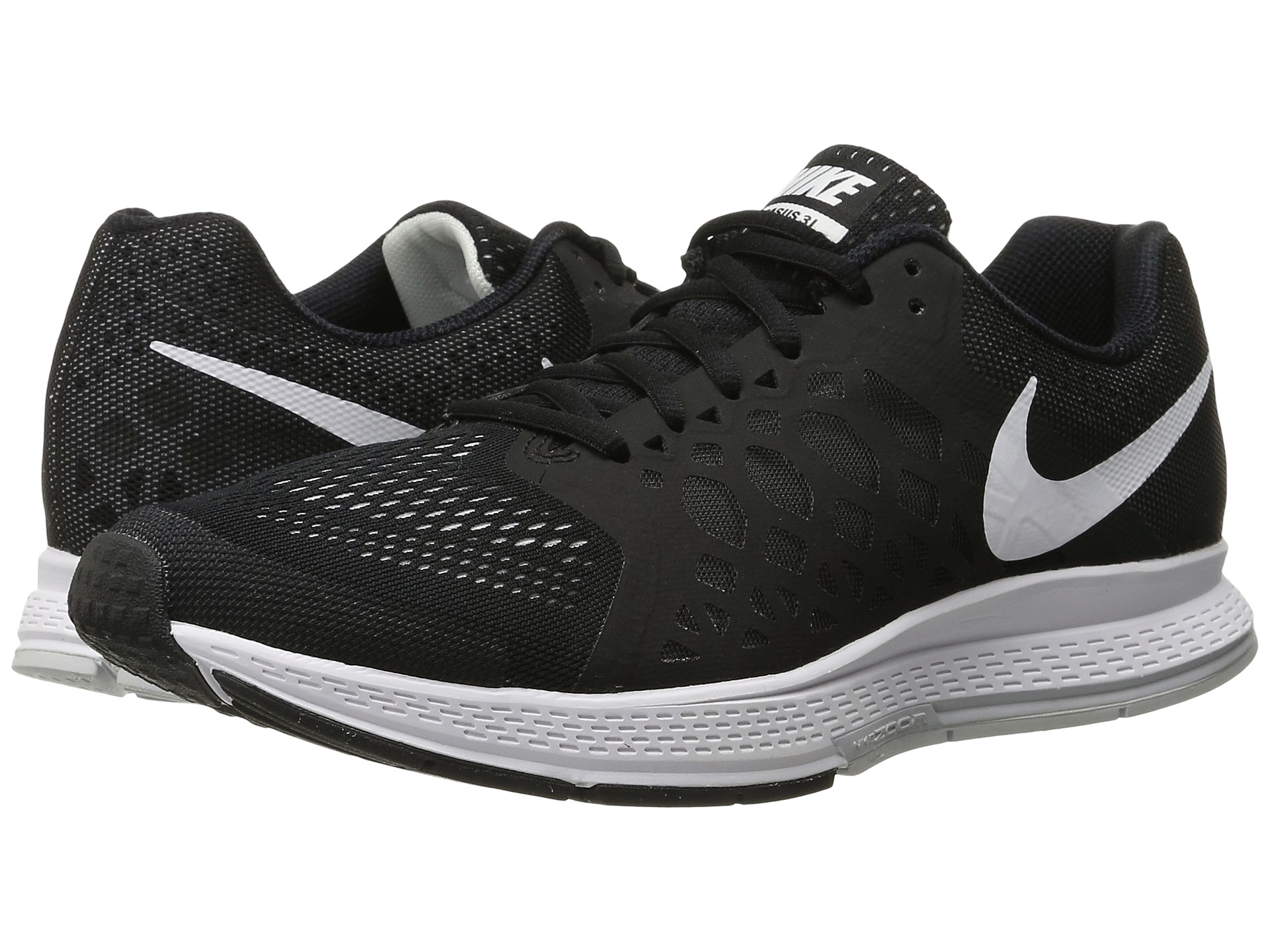 nike zoom pegasus 31 black white free. Black Bedroom Furniture Sets. Home Design Ideas