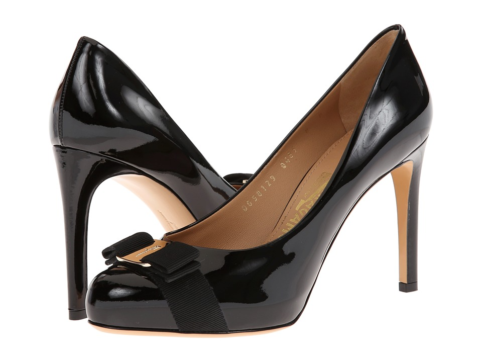 Salvatore Ferragamo - Patent Leather Platform Pump (Nero Patent) High Heels