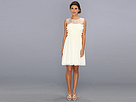 Donna Morgan White Dress With Dye Cuts (Vanilla Bean)