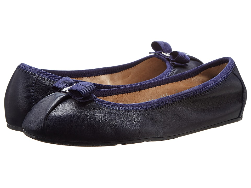 Salvatore Ferragamo - Nappa Flex Ballerina Flat (Oxford Blue Nappa Moda F) Womens Slip on  Shoes
