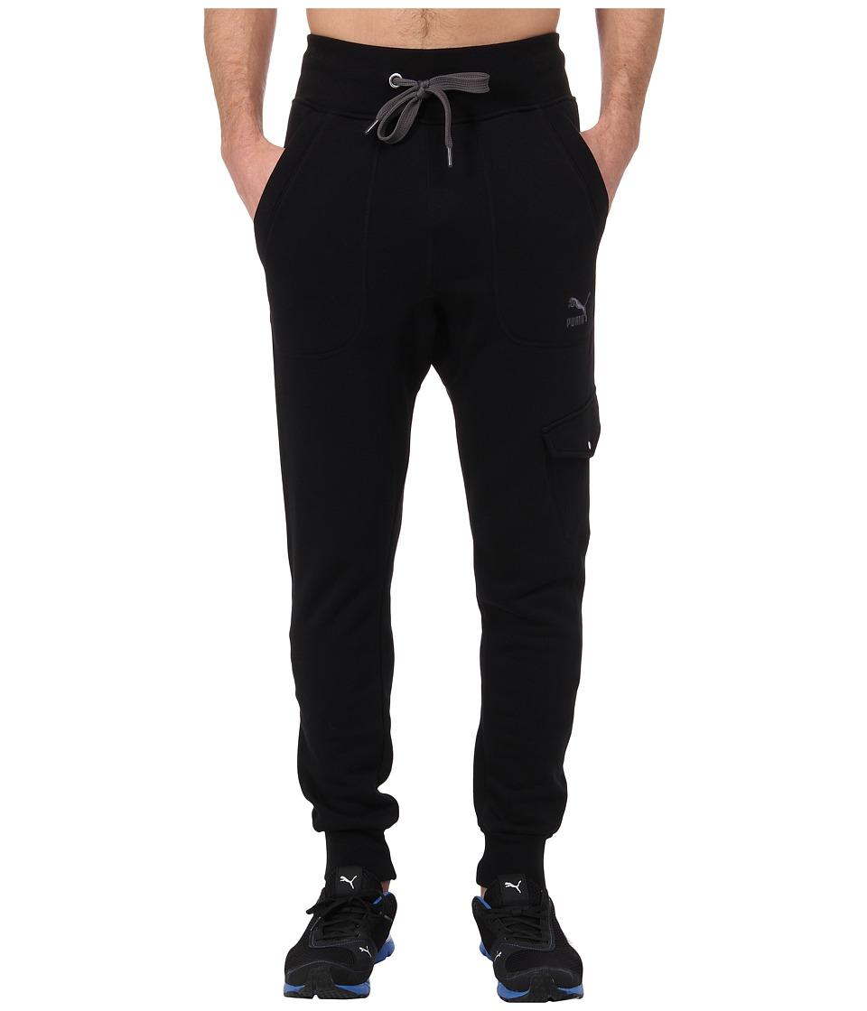 PUMA Cargo Sweat Pants Black Mens Casual Pants