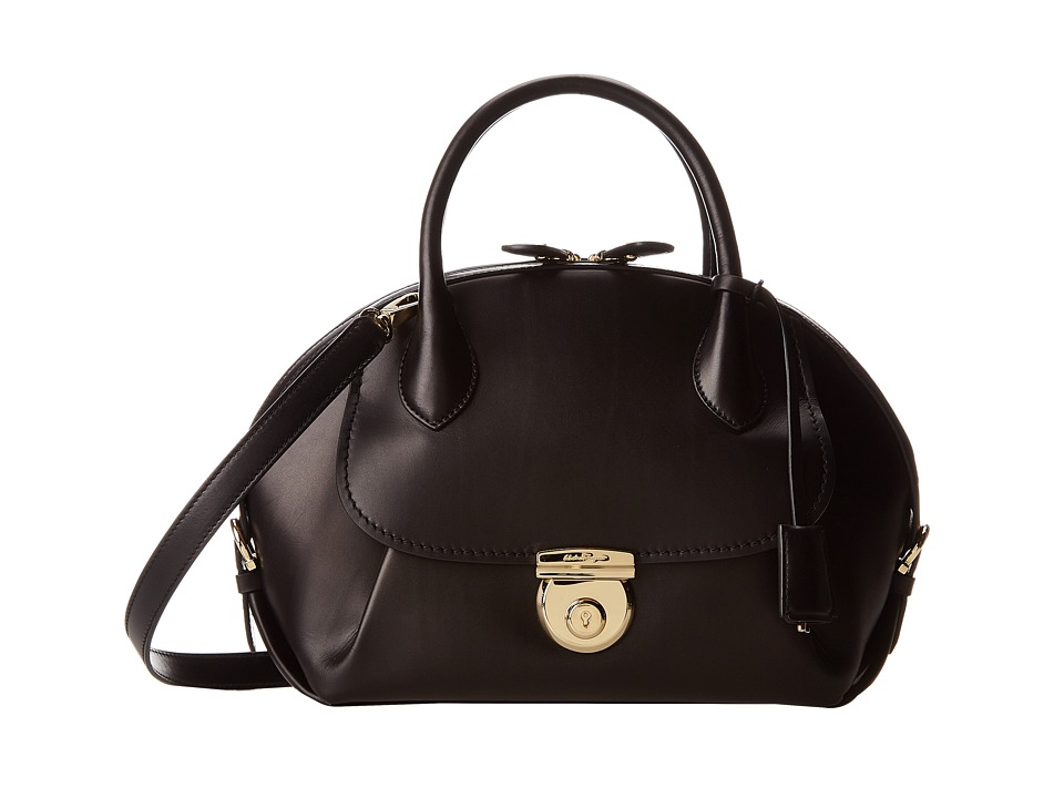 Salvatore Ferragamo - 21E770 Fiamma (Nero) Satchel Handbags