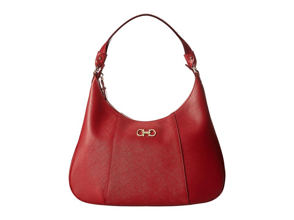 Salvatore Ferragamo - 21E379 Petunia (Rosso) Hobo Handbags