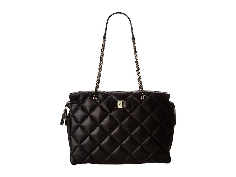 Salvatore Ferragamo - 21E766 Ginette (Nero) Handbags