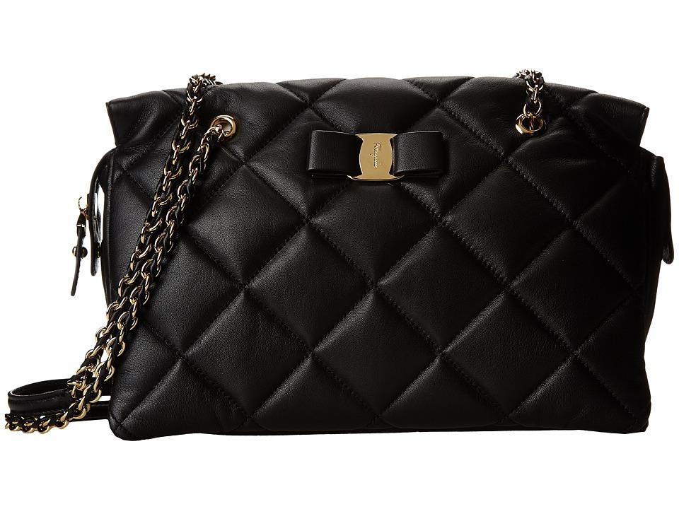 Salvatore Ferragamo - 21E743 Ginette (Nero) Handbags