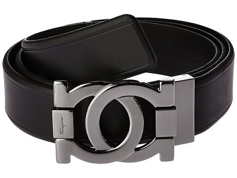 Salvatore Ferragamo Interlocking Gancini Adjustable Belt 679163