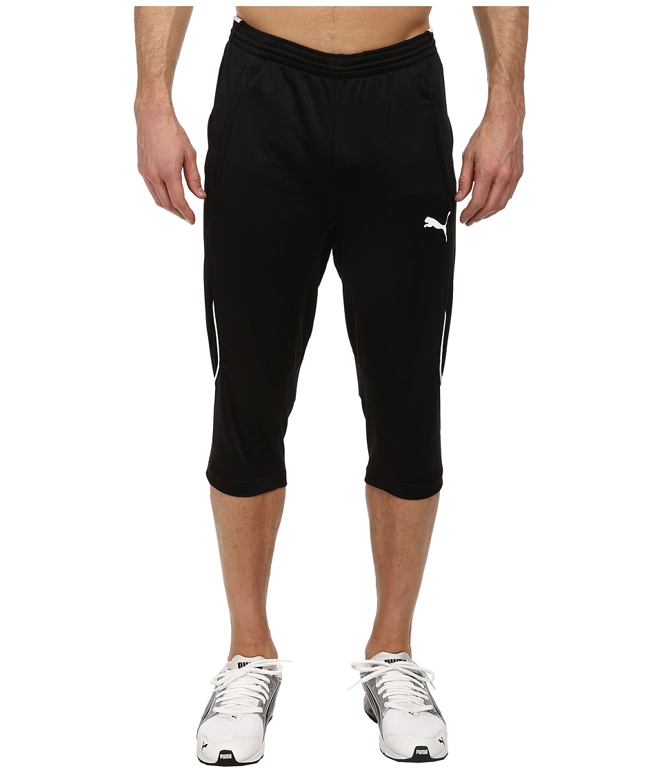 PUMA 3/4 Training Pant (Black/White) Men