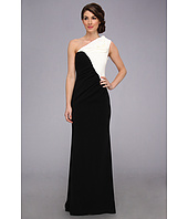 Badgley Mischka - One Shoulder Color Block Gown