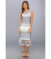 Badgley Mischka - Boucle Strip Cocktail Dress