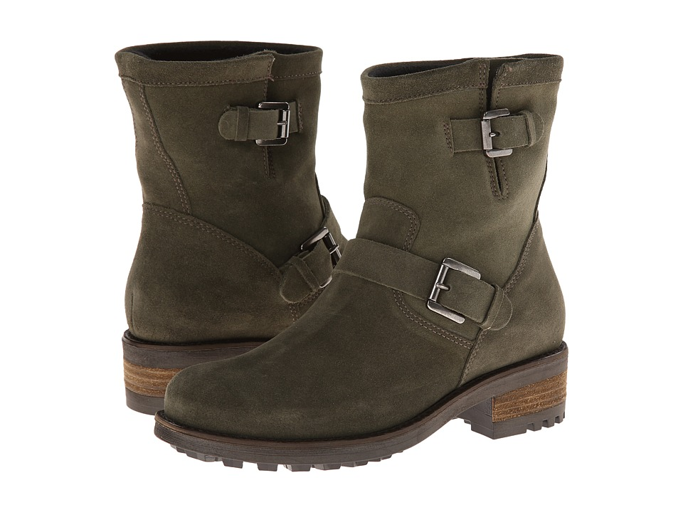La Canadienne Charlotte Olive Oiled Suede Womens Boots