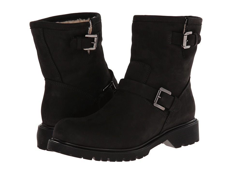 La Canadienne - Hayes (Black Nubuck/Shearling Lined) Women
