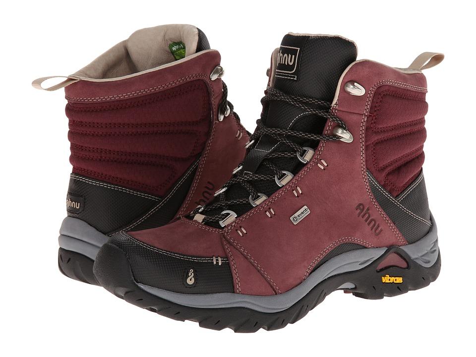 Ahnu Montara Boot Red Mahogany Womens Hiking Boots