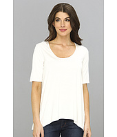 Three Dots - Lightweight Viscose 1/2 Sleeve Relaxed High-Low Tee