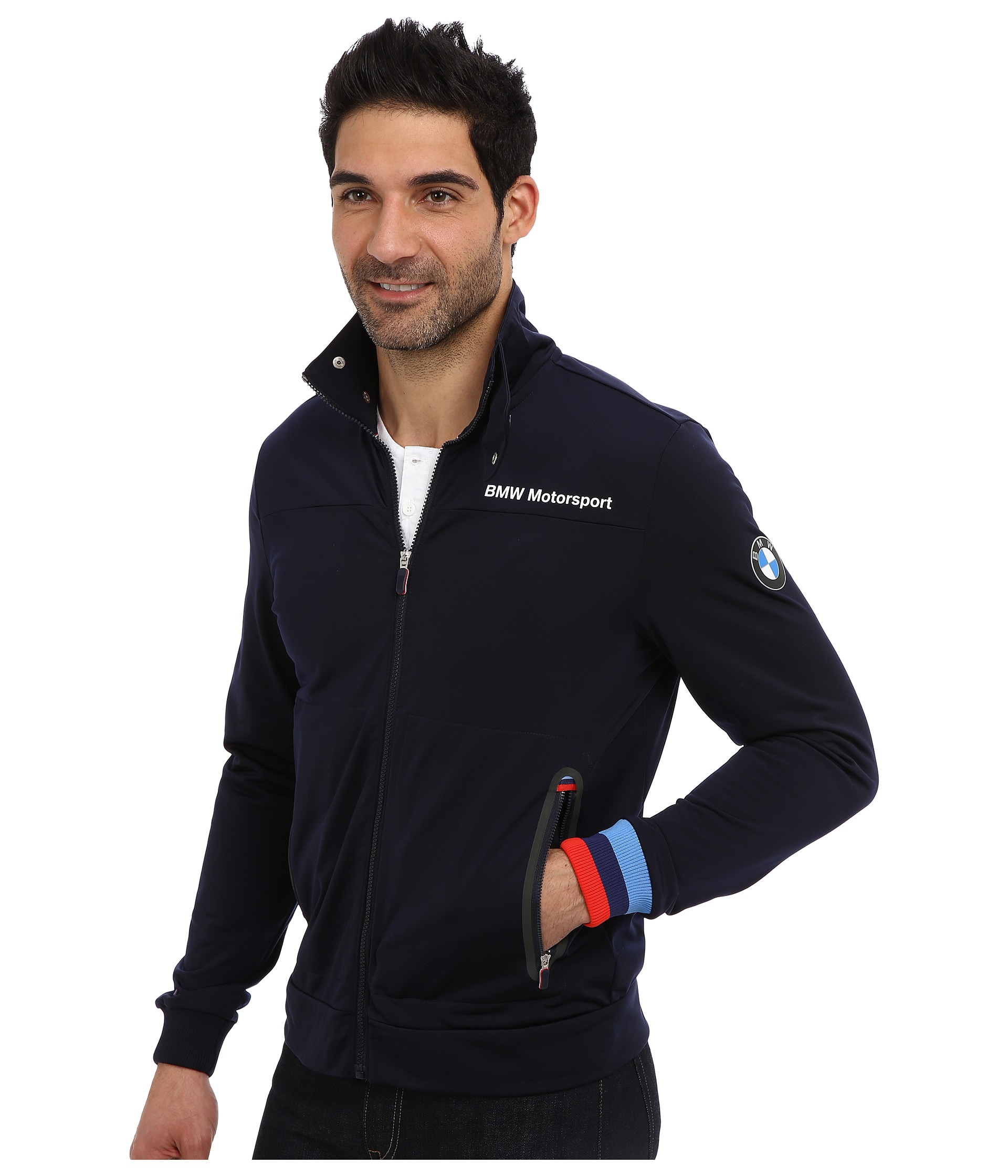 puma bmw msp track jacket bmw team blue shipped free at. Black Bedroom Furniture Sets. Home Design Ideas