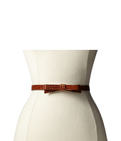 Kate Spade New York - Croc Skinny Bow Belt
