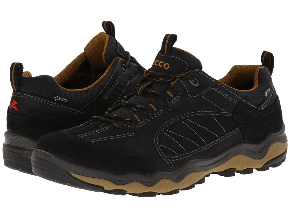 ECCO Sport Ulterra Lo GORE TEX Black/Black/Dried Tobacco Mens Shoes