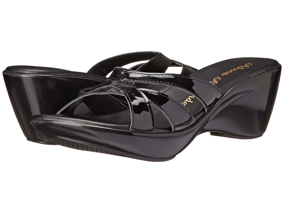 Athena Alexander Stefan Black Patent Womens Sandals
