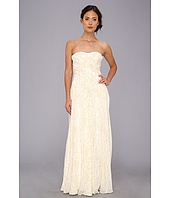 Badgley Mischka - Lurex Threaded Strapless Gown