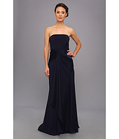Badgley Mischka - Cross Drape Strapless Gown