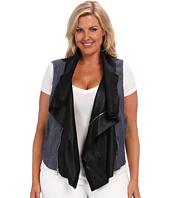 Karen Kane Plus - Plus Size Contrast Moto Vest