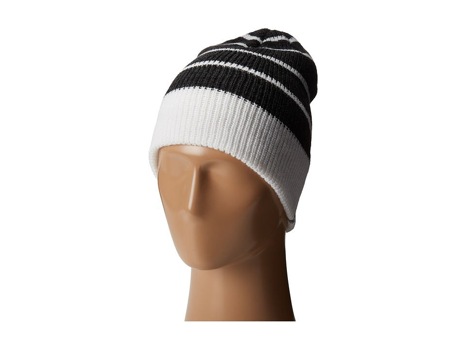 Volcom Beanie Black Striped White Strips
