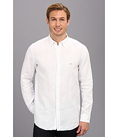 Lacoste - Long Sleeve Button Down Linen Woven Shirt