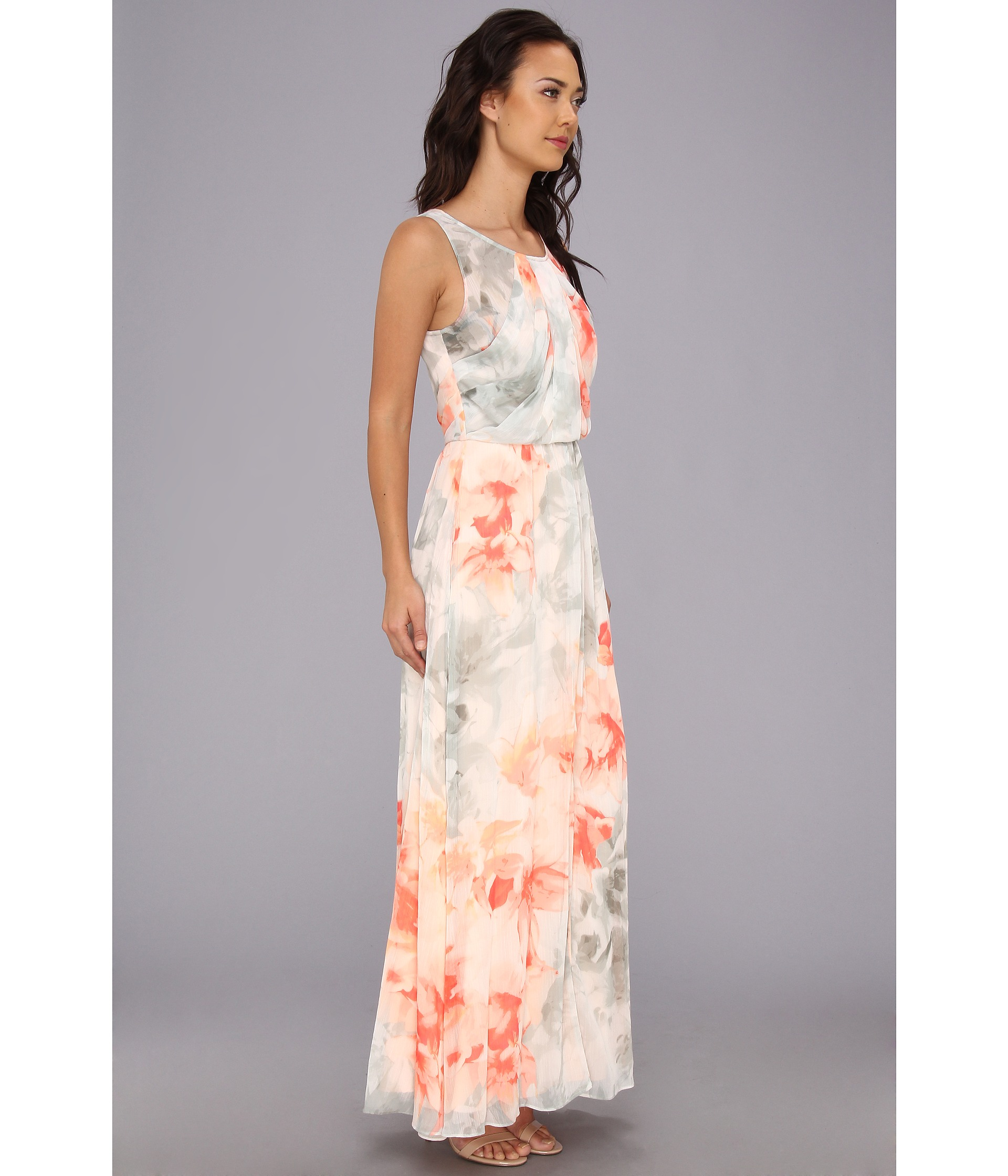 Collection Chiffon Floral Maxi Dress Pictures - Reikian