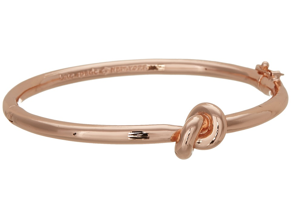 Kate Spade New York - Sailors Knot Hinge Bangle (Rose Gold) Bracelet