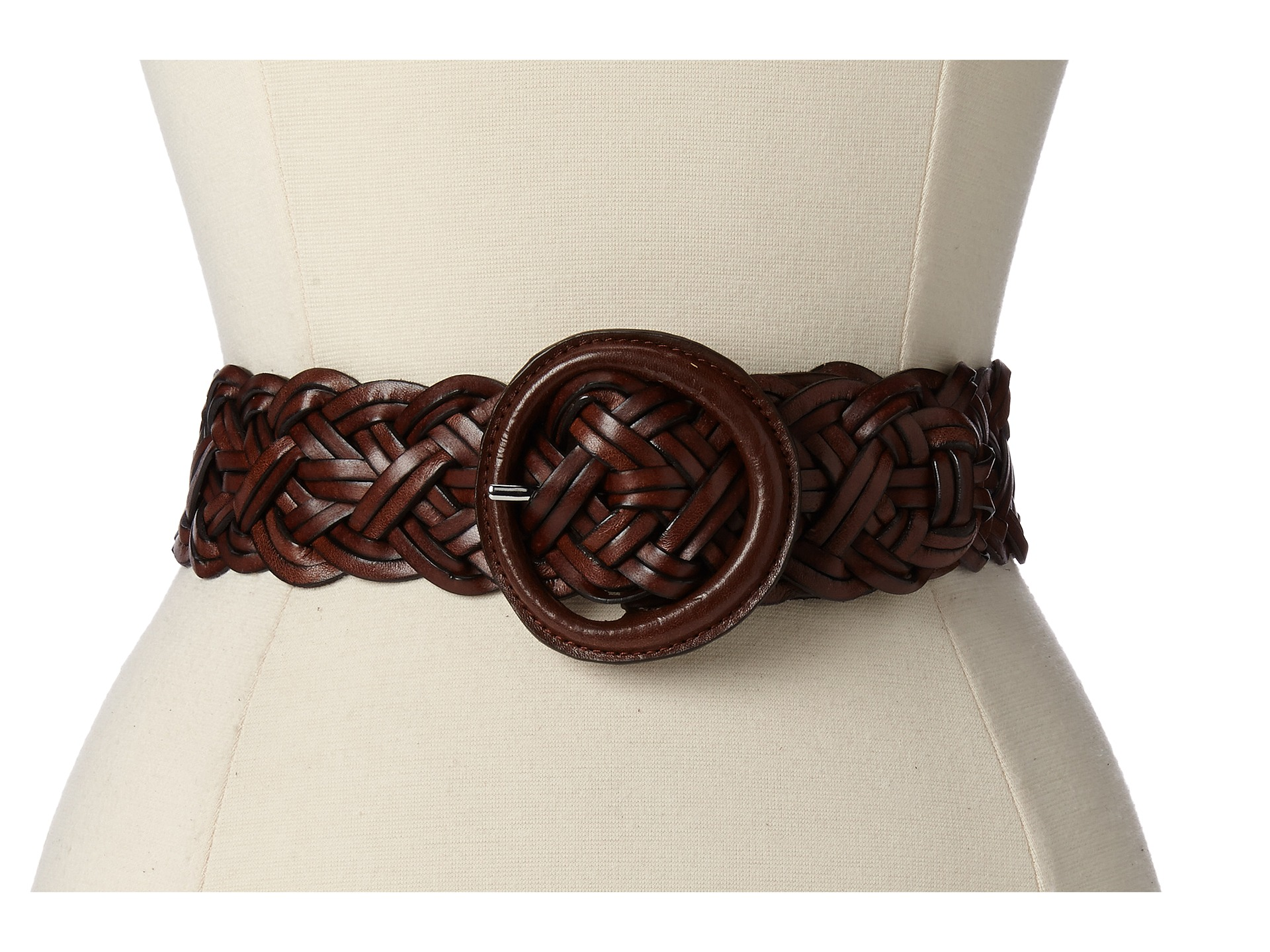by ralph 1 5 8 woven leather cord belt brown