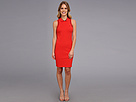 Lacoste - Sleeveless Pique Polo Dress (Lust Red/Navy Blue Used) - Apparel at Zappos.com
