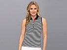 Lacoste - Sleeveless Stripe Stretch Pique Polo (Navy Blue/White/Etna Red) - Apparel at Zappos.com