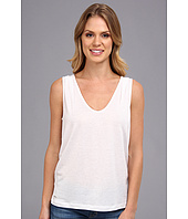 Lacoste - Sleeveless Slub V-Neck Tee-Shirt