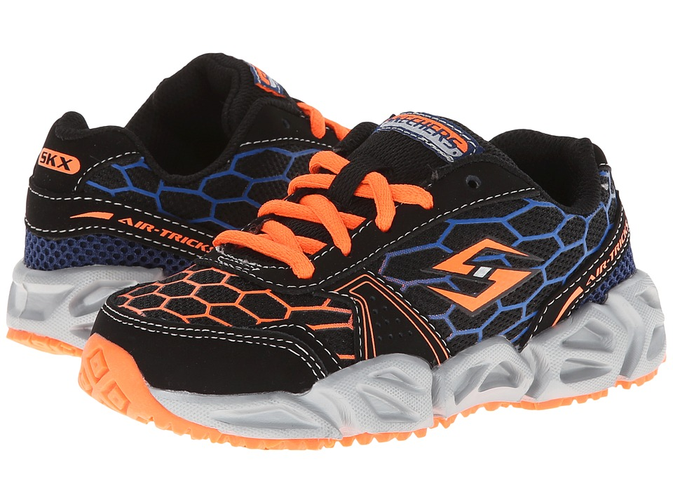 SKECHERS KIDS Aero Flex 95792L Little Kid/Big Kid Black/Orange/Blue Boys Shoes