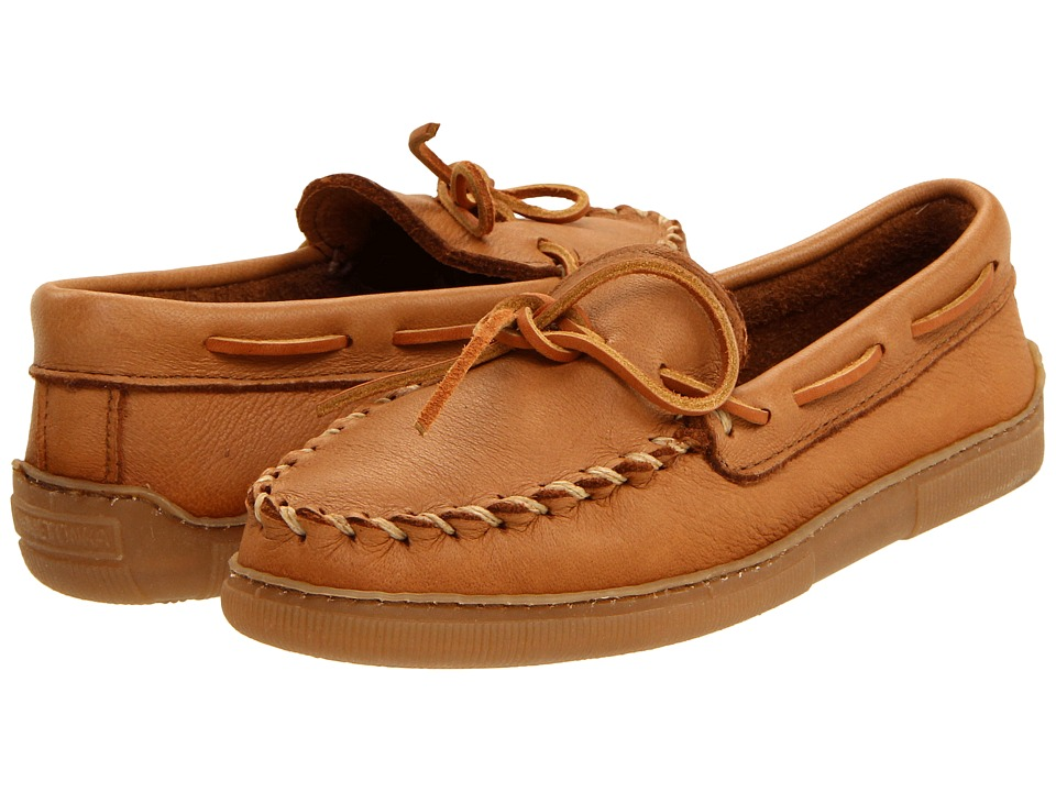 Minnetonka - Moosehide Classic (Natural) Mens Clog/Mule Shoes