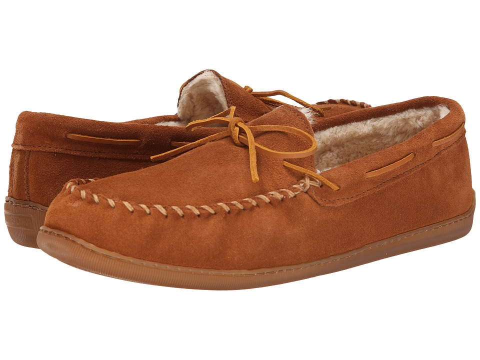 Minnetonka - 3902 (Brown Suede) Mens Slippers