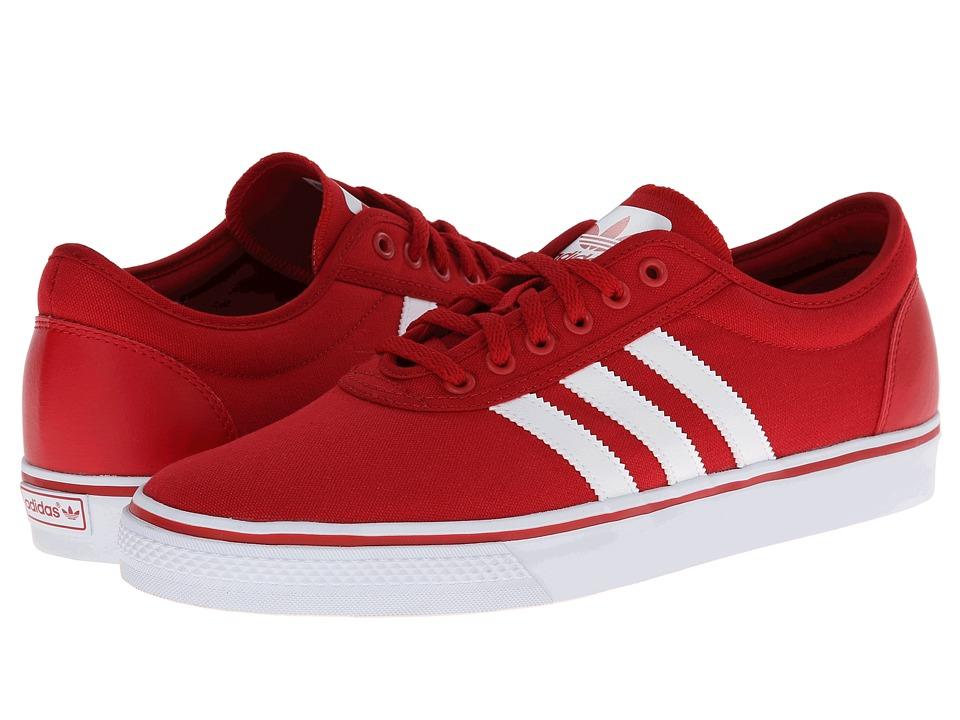 adidas Skateboarding Adi Ease Power Red/Core White/Power Red Mens Skate Shoes
