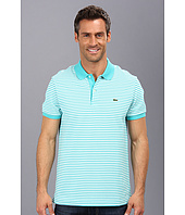 Lacoste - Short Sleeve Heritage Fine Stripe Pique Polo Shirt
