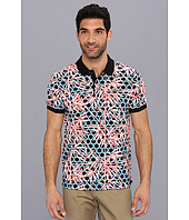 Lacoste - Live Short Sleeve Mini Pique Triopical Printed Polo Shirt