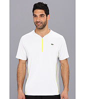 Lacoste - Ultra Dry Short Sleeve Textured Trim Zip Placket T-Shirt