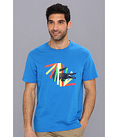 Lacoste - Short Sleeve Jersey Multicolor Crocodile Graphic Tee-Shirt