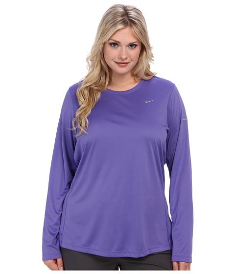 Nike - Extended Size L/S Miler (Purple Haze/Reflective Silver) - Apparel